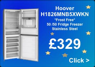 Star Buy Hoover H1826MNB5XWKN Frostfree fridge freexzer