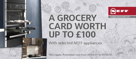 NEFF Grocery Card worth upto £100